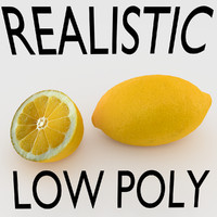 3d lemon real realistic