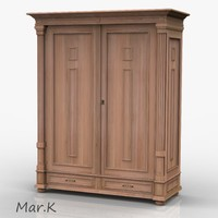3d model wardrobe antique