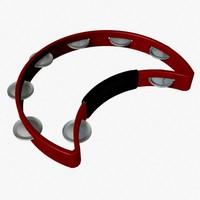 tambourine cutaway 3d model