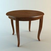 3d wooden table model