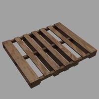 3d model wooden pallet