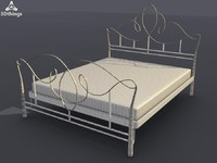 loren bed frame 3d max