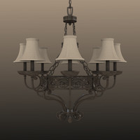 fbx chandelier light lamp