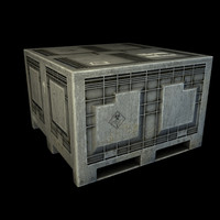 3d model industrial plastic crate