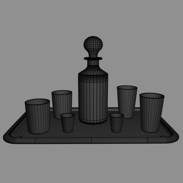 realistic decanter set 3d max - Decanter_Set... by Working Lens Productions