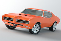 3d model of pontiac gto 1969 judge