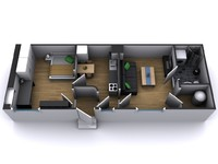 3d apartment furnitures