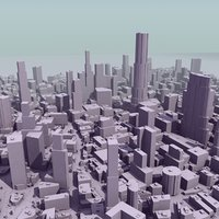 city mass modeled 3ds