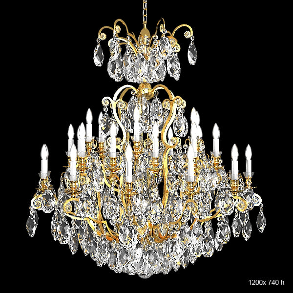Schonbek 3774 big classic luxury crystal swarowski chandelier candle light lamp.jpg