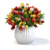 3ds max tulip flower vase