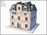 3d model world war ii town