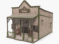 3ds max western saloon