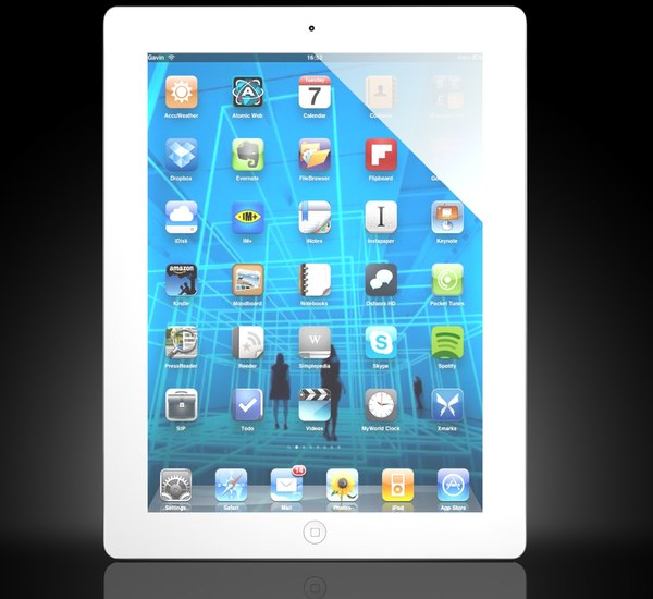ipad wi-fi 3g 3d model - Ipad2 Wi-Fi+3G... by Antonio Zamburru