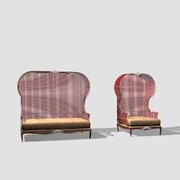 3dsmax winter garden 2 seat