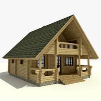 house wooden 3d model