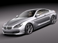 3d model bmw 6 coupe 2012