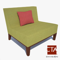 lounge chair 3d obj