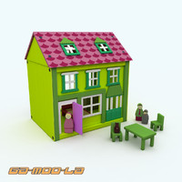 3d model wooden dolls house