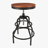 Industrial Mansard Stool