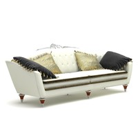 3d luxurious sofa model