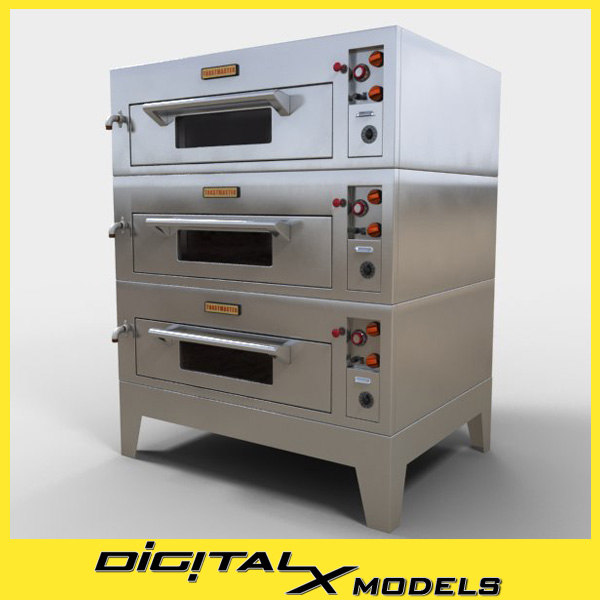 Industrial Kitchen 3d Model: 3ds Commercial Pizza Oven