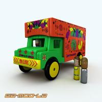 wooden truck 3d model