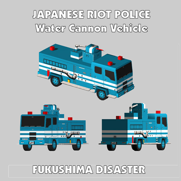 Japanese RIOT POLICE Water Cannon