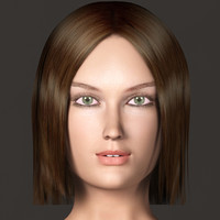3d model of female details character