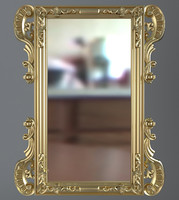 Gold Rectangular Wall Mirror