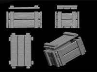 wood crate 3d dxf