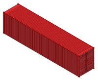 3d 40ft iso shipping container model