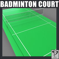 3d model badminton court
