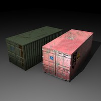 3d model containers cargo