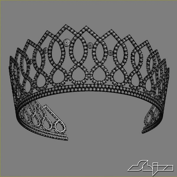 3d model crown princess - Crown 6... by shiva3d