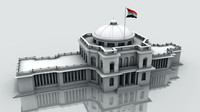 3d egyptian parliament egypt model