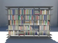 3d book shelf -