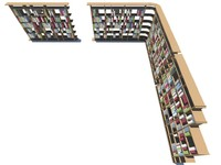 3d model book shelf -