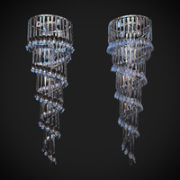 3d brendan chandelier forks model