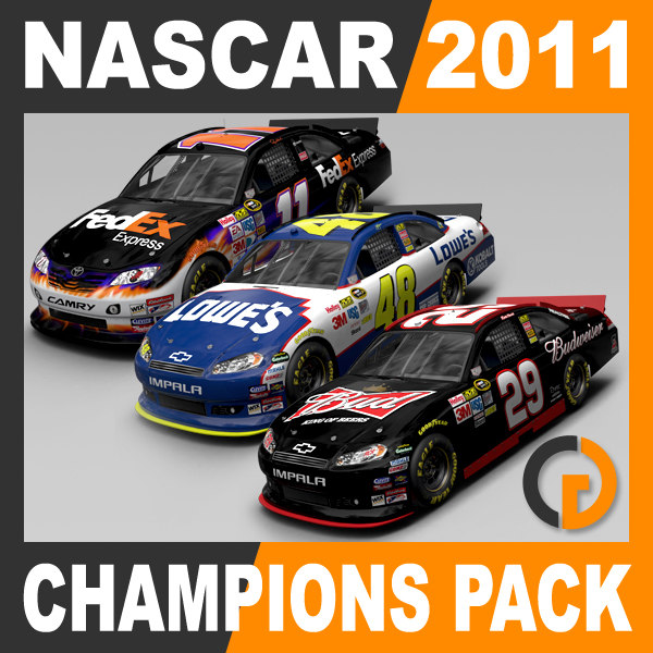 Nascar 2011 Pack - 2010 Champions Cars
