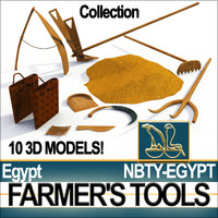 "Ancient Egyptian Farmer""s Tools Collection"