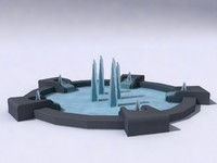 ancient fountain 3d max