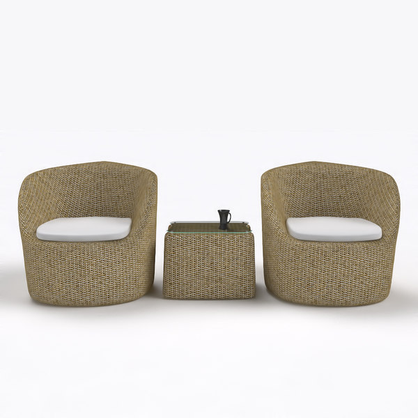 rattan lounge sofa set max - Rattan Lounge Sofa Set with Stool 01... by glenchen