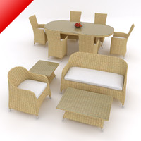 Bundled Rattan Furnitures