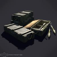 3d crate rpg model