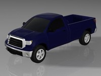3d model of toyota tundra truck