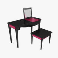 3d model vanity table dressing