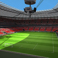 3d warsaw stadium poland model