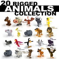20 RIGGED ANIMALS COLLECTION