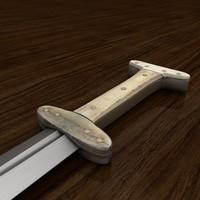 3d baselard dagger model