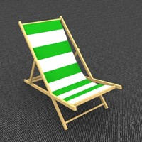 3ds max beach chair